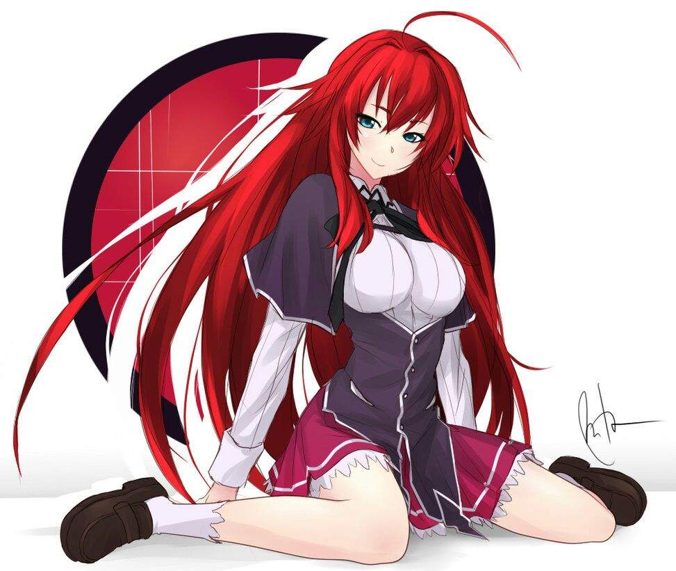 Rias Gremory hot red hair