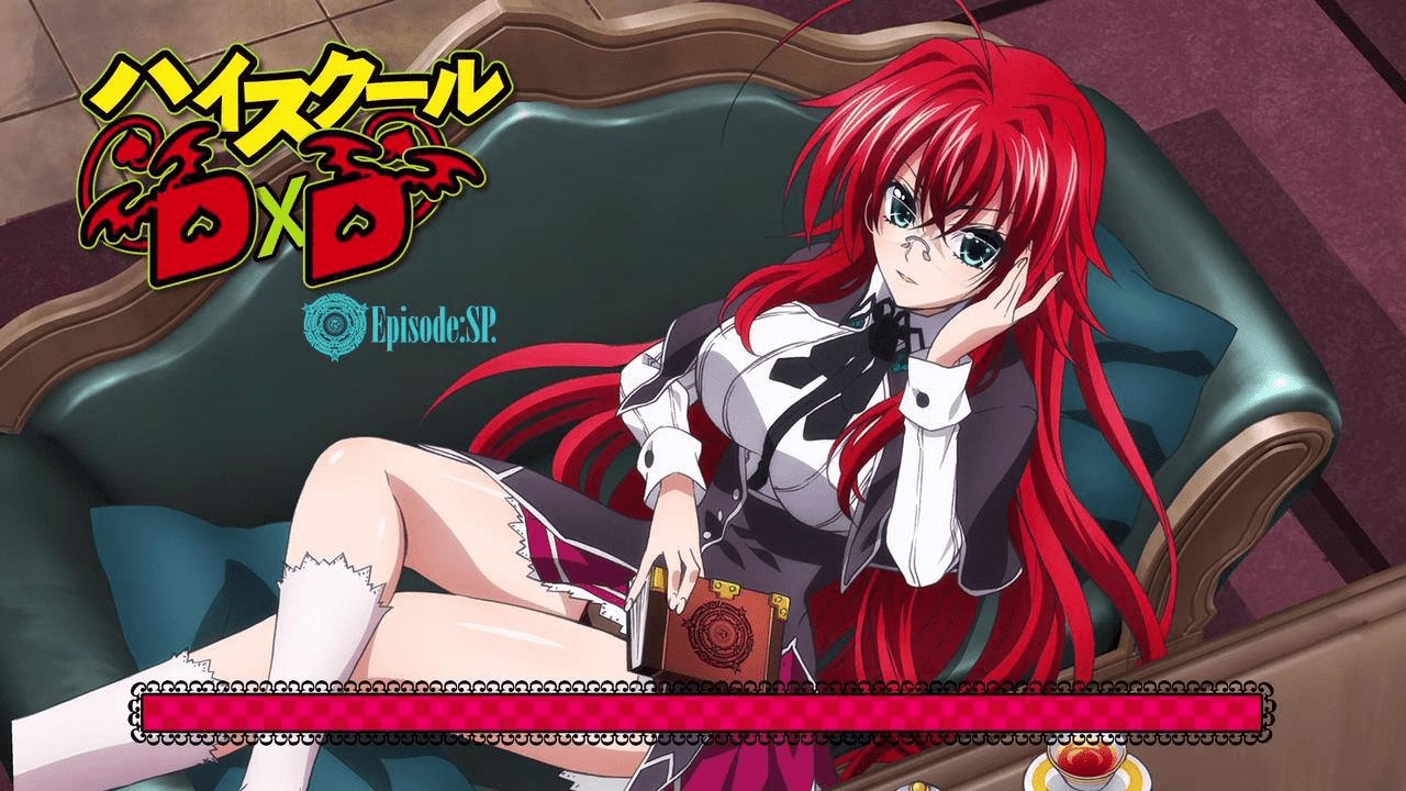 Rias Gremory on the couch