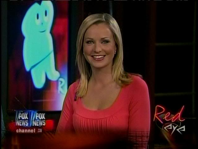 Sandra Smith hot cleavage in red dress