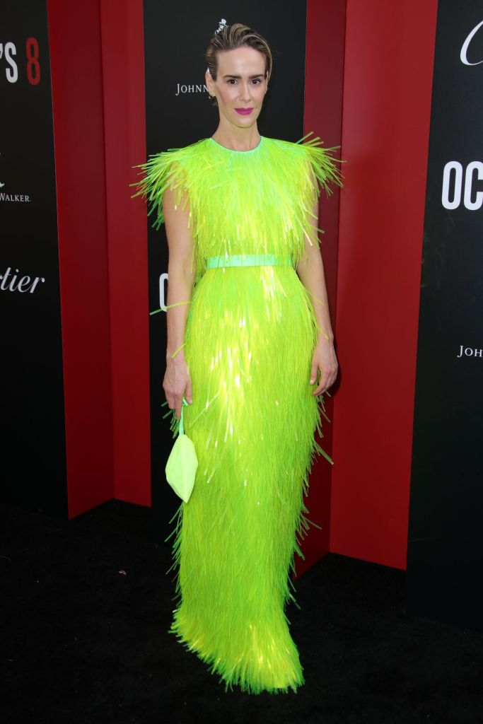Sarah Paulson beauty in gown