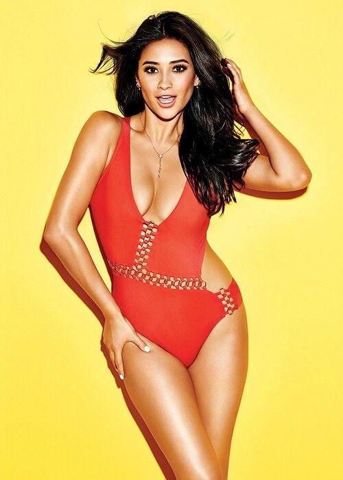 Shay Mitchell Hot on Swimsuit Costume