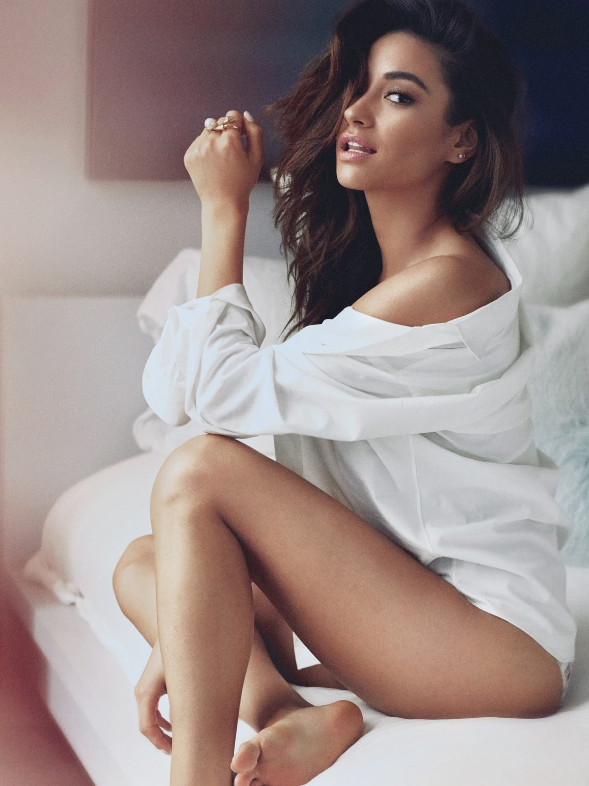 Shay Mitchell on Bed