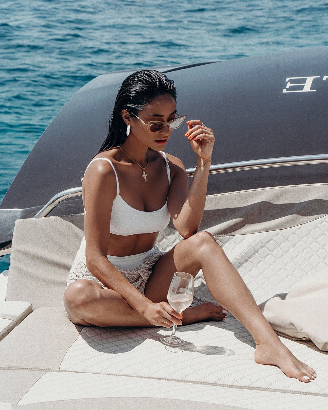 Shay Mitchell on White Bikini