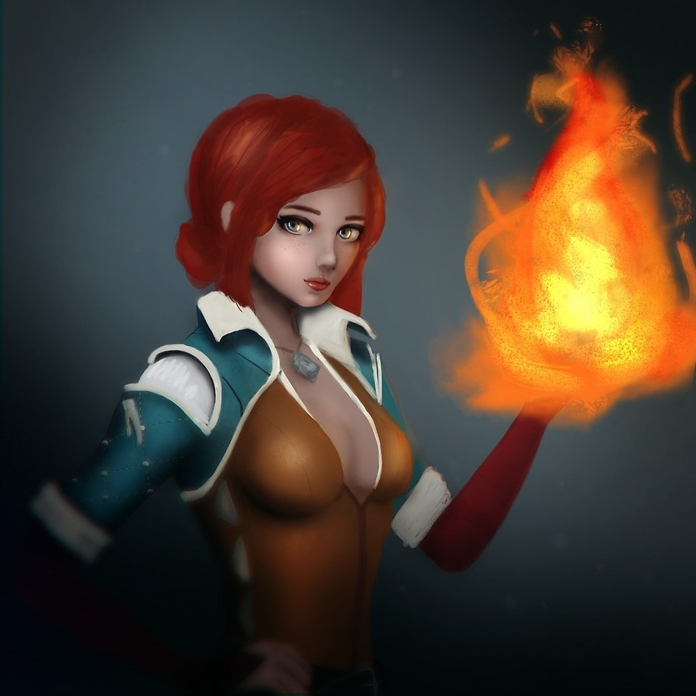 Triss Merigold on Fire