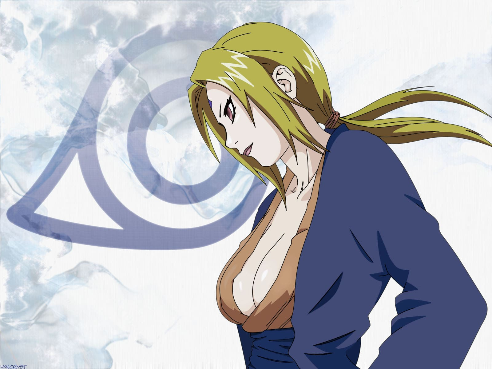 Tsunade Senju beautiful clevage