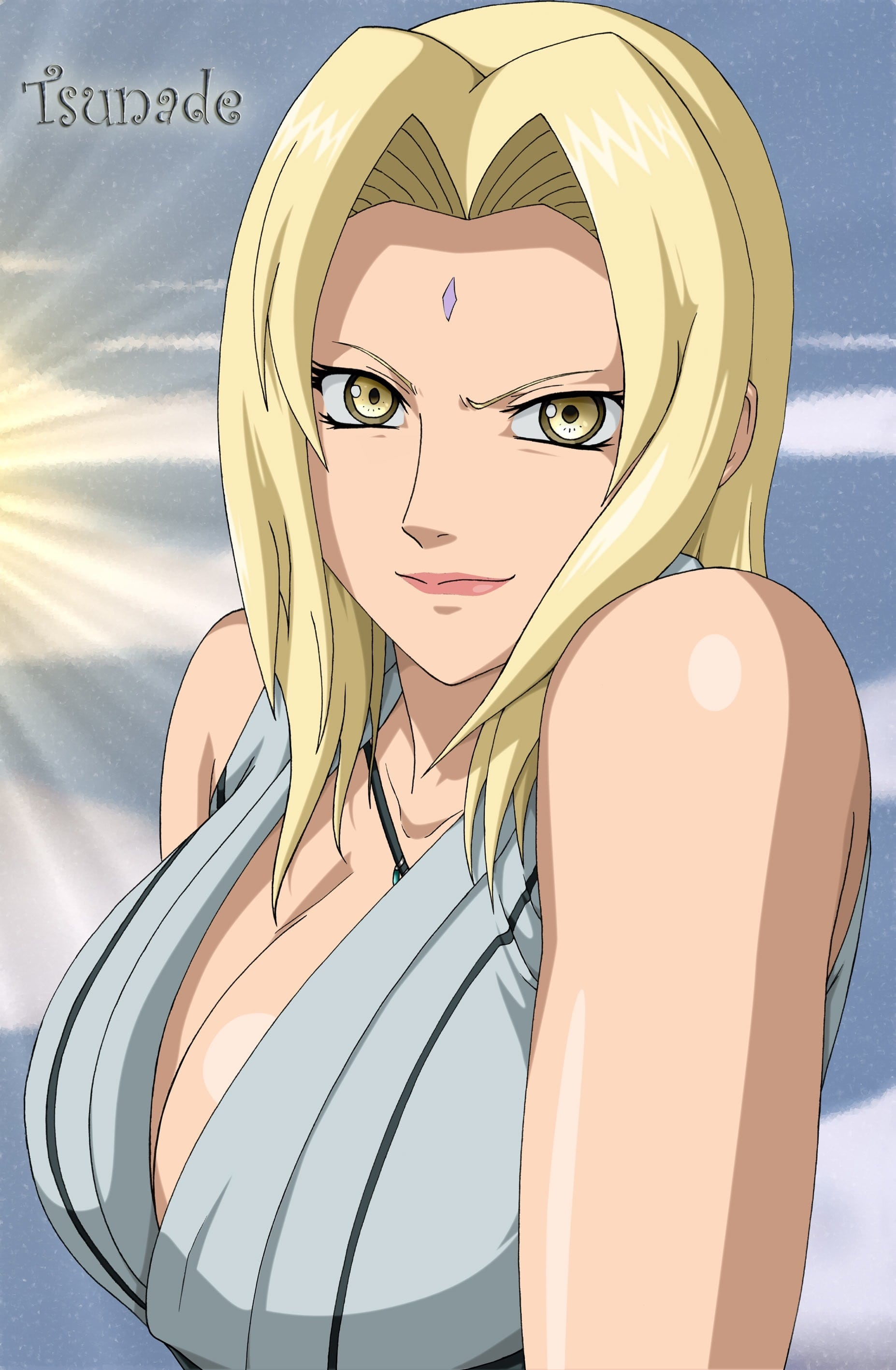 Tsunade Senju too hot clevage
