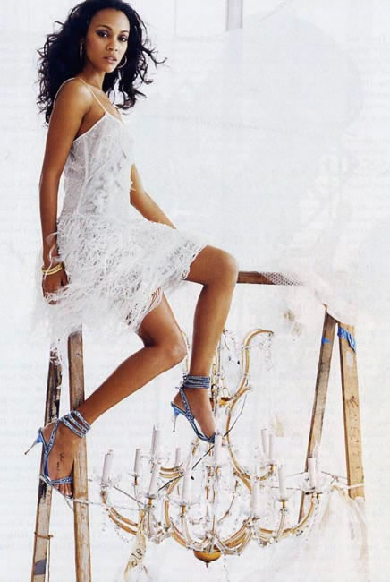 Zoe Saldana feet awesome