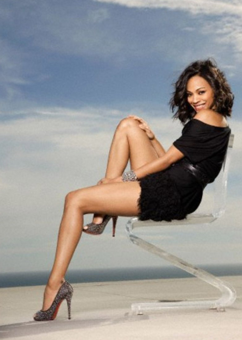 Zoe Saldana feet high heels pic