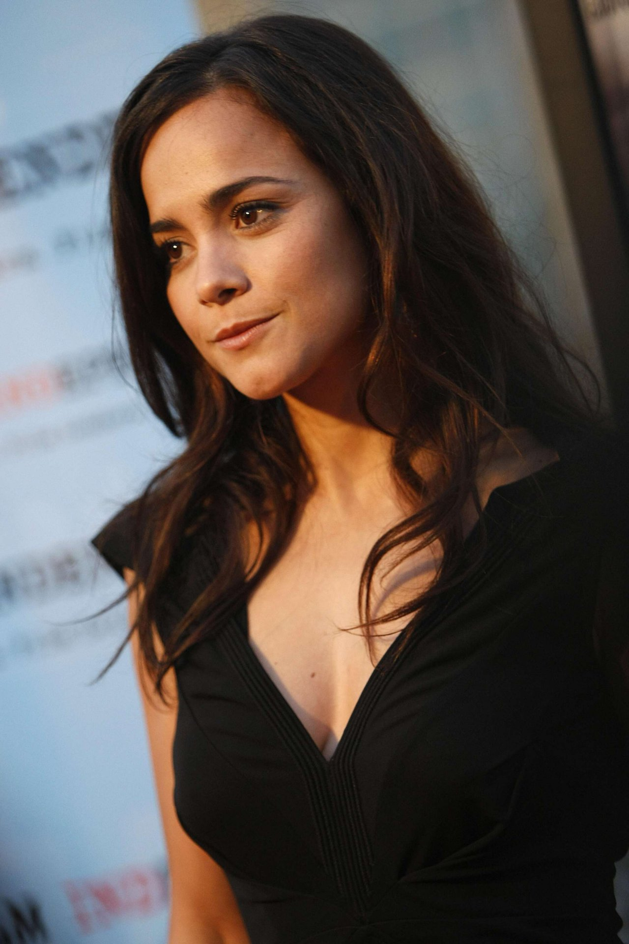 alice braga beautiful cleavages