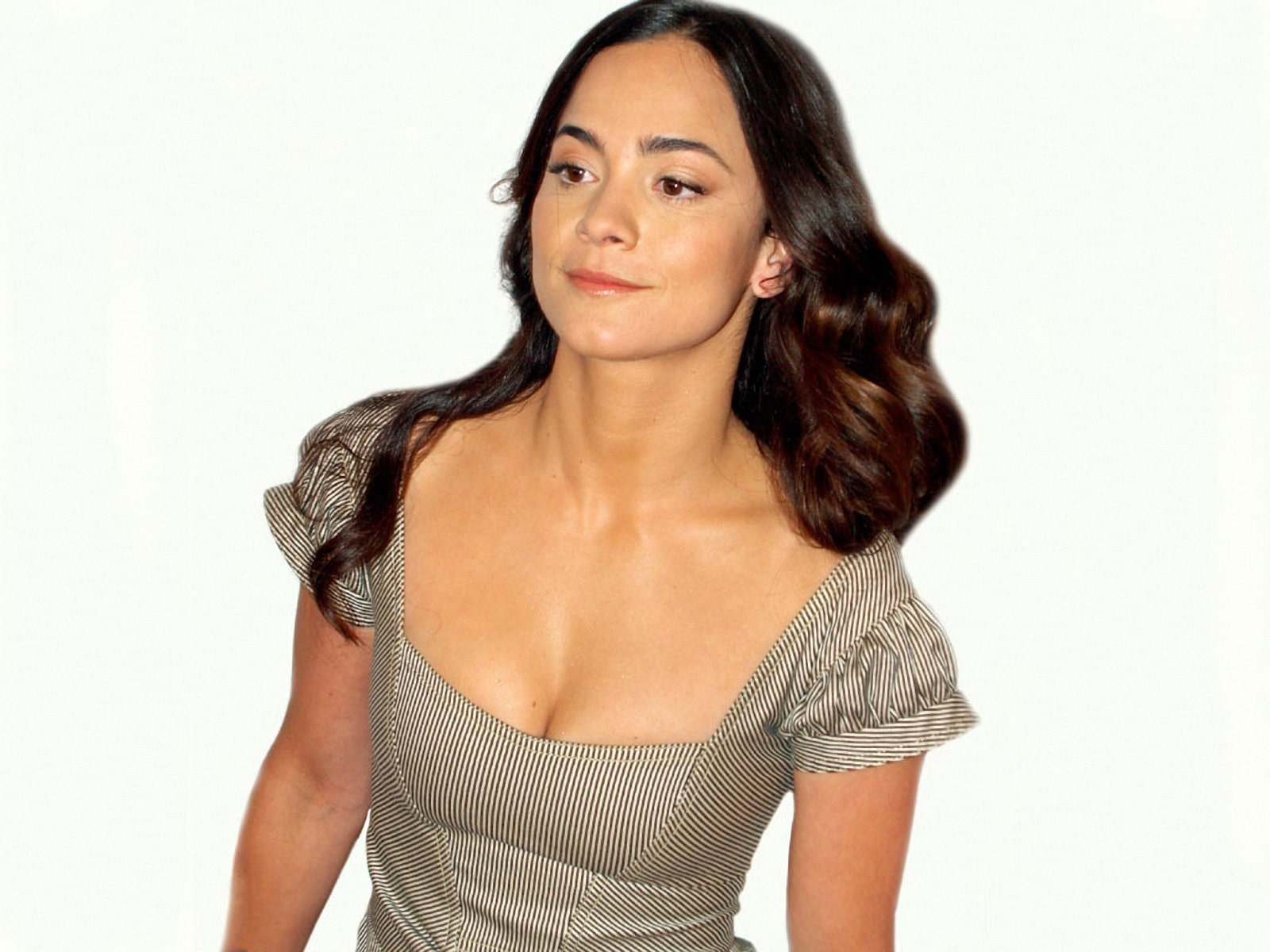 alice braga cleavages hot pic