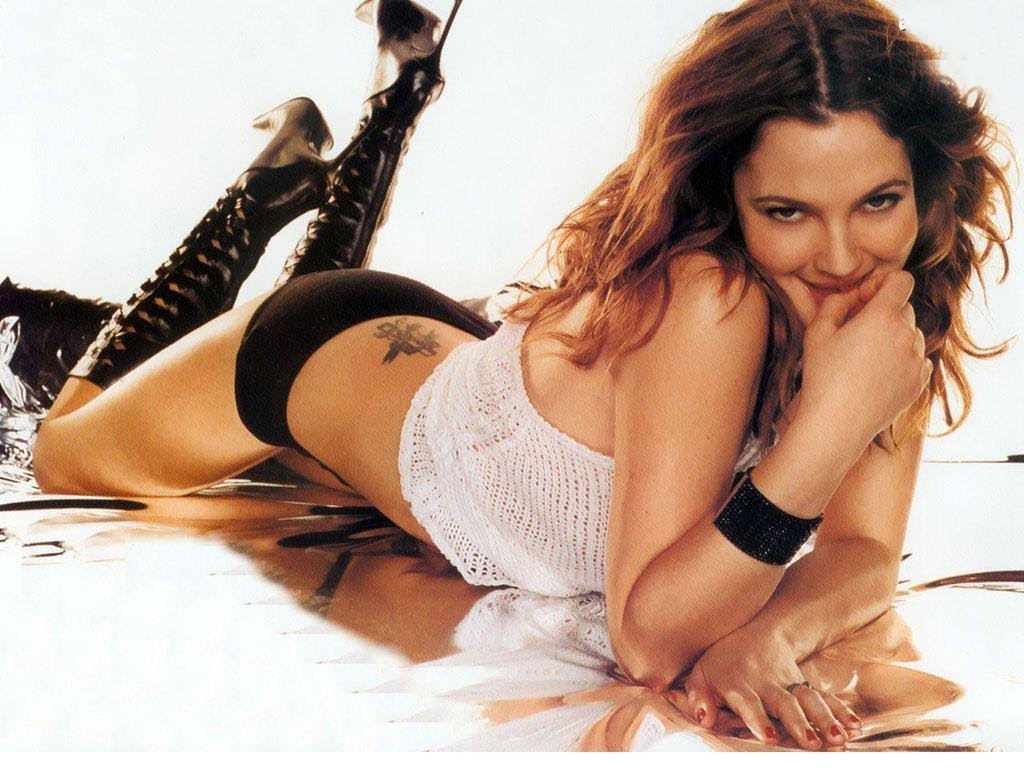 drew barrymore ass hot pics