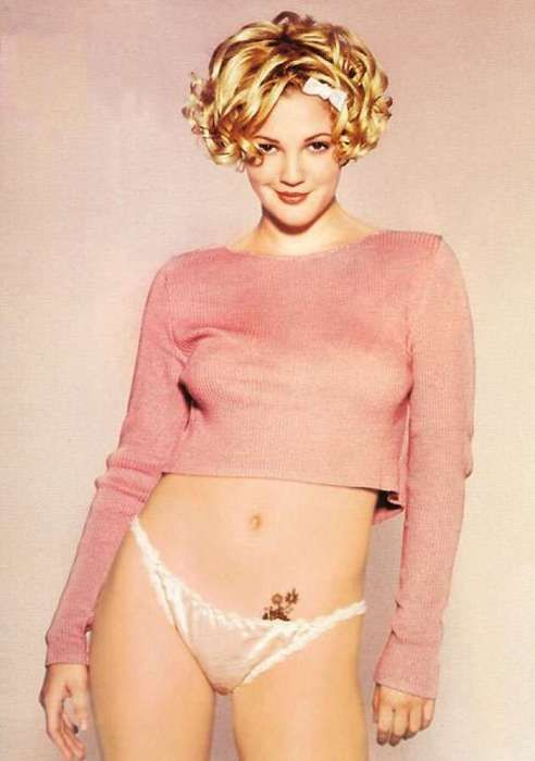 drew barrymore short hair