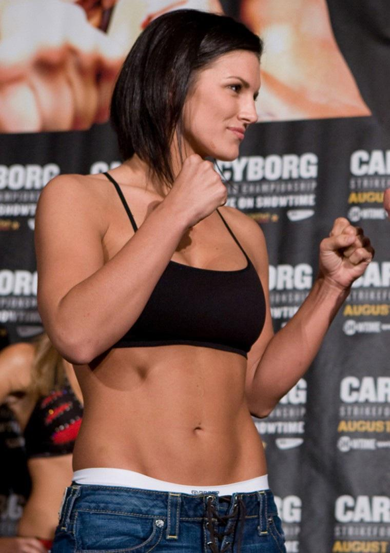 gina carano hot body