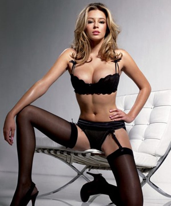 keeley hazell black lingerie