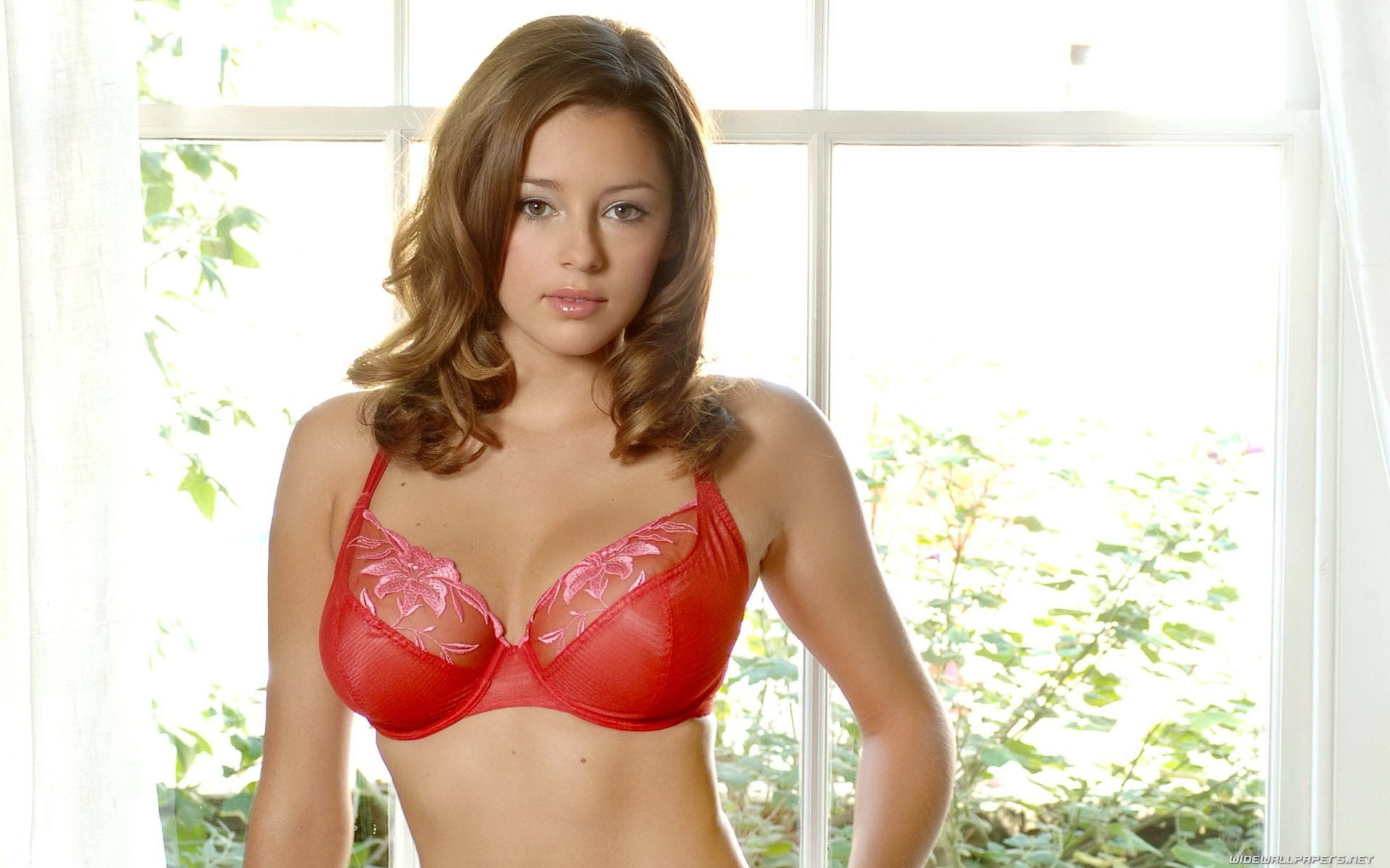 keeley hazell red bra