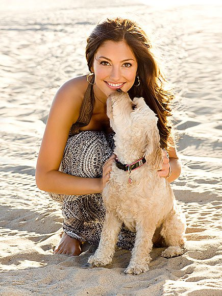 minka kelly animal lover