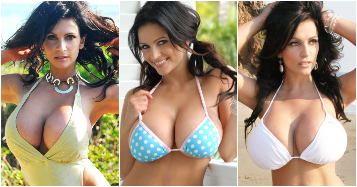 Sexy denise milani cleavage really. happens