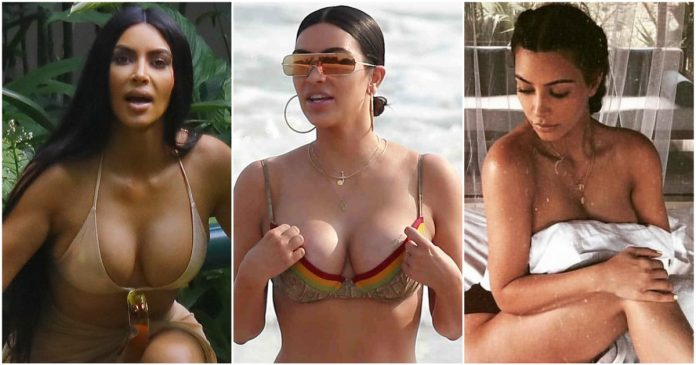 49 Sexy Kim Kardashian Boobs Pictures Will Make You Drool For Her