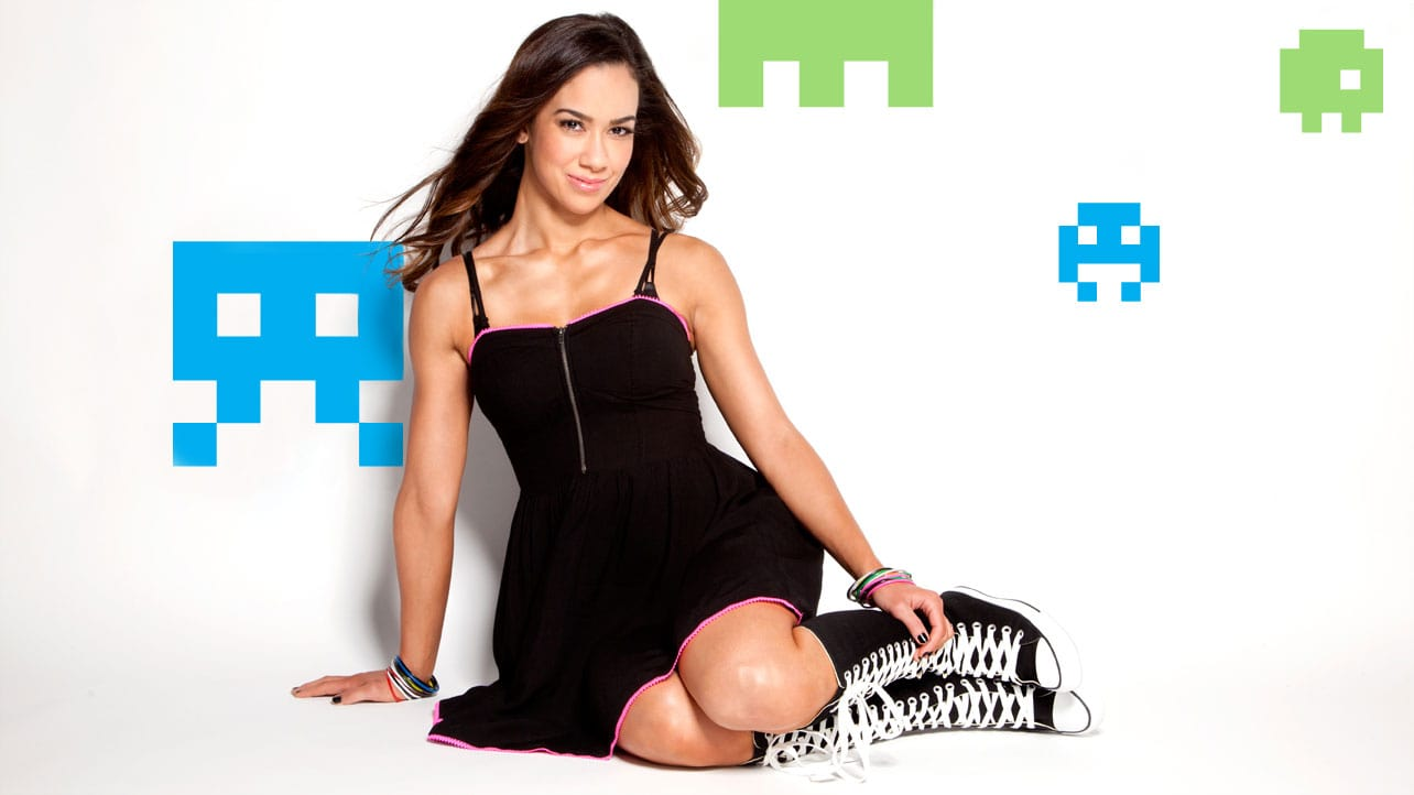 AJ Lee black awesome dress