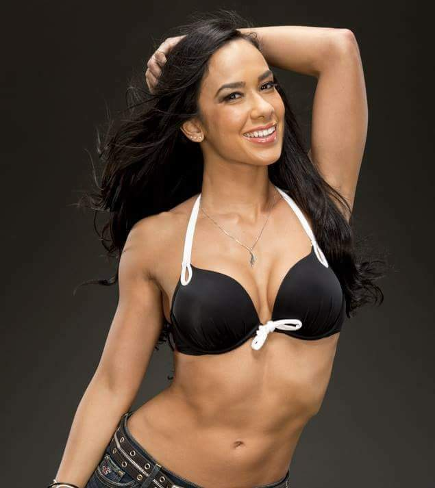 AJ Lee cleravages sexy