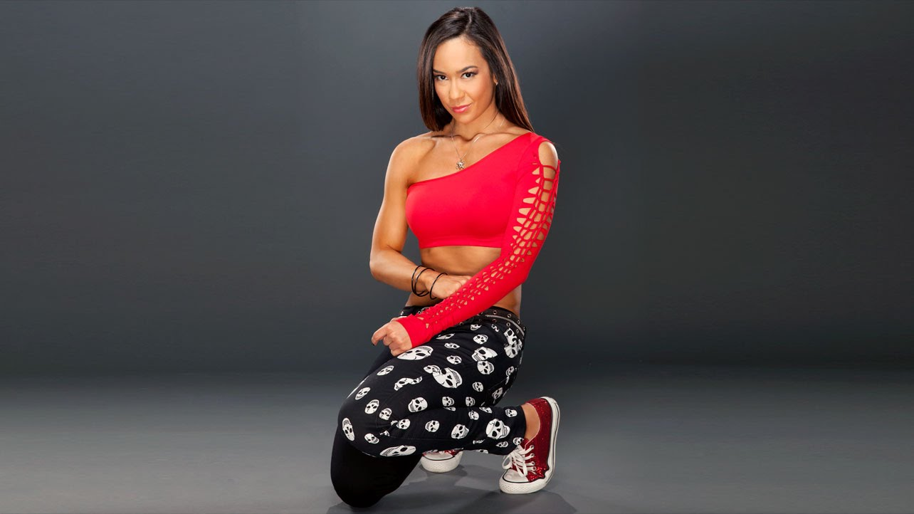 AJ Lee red sexy dress