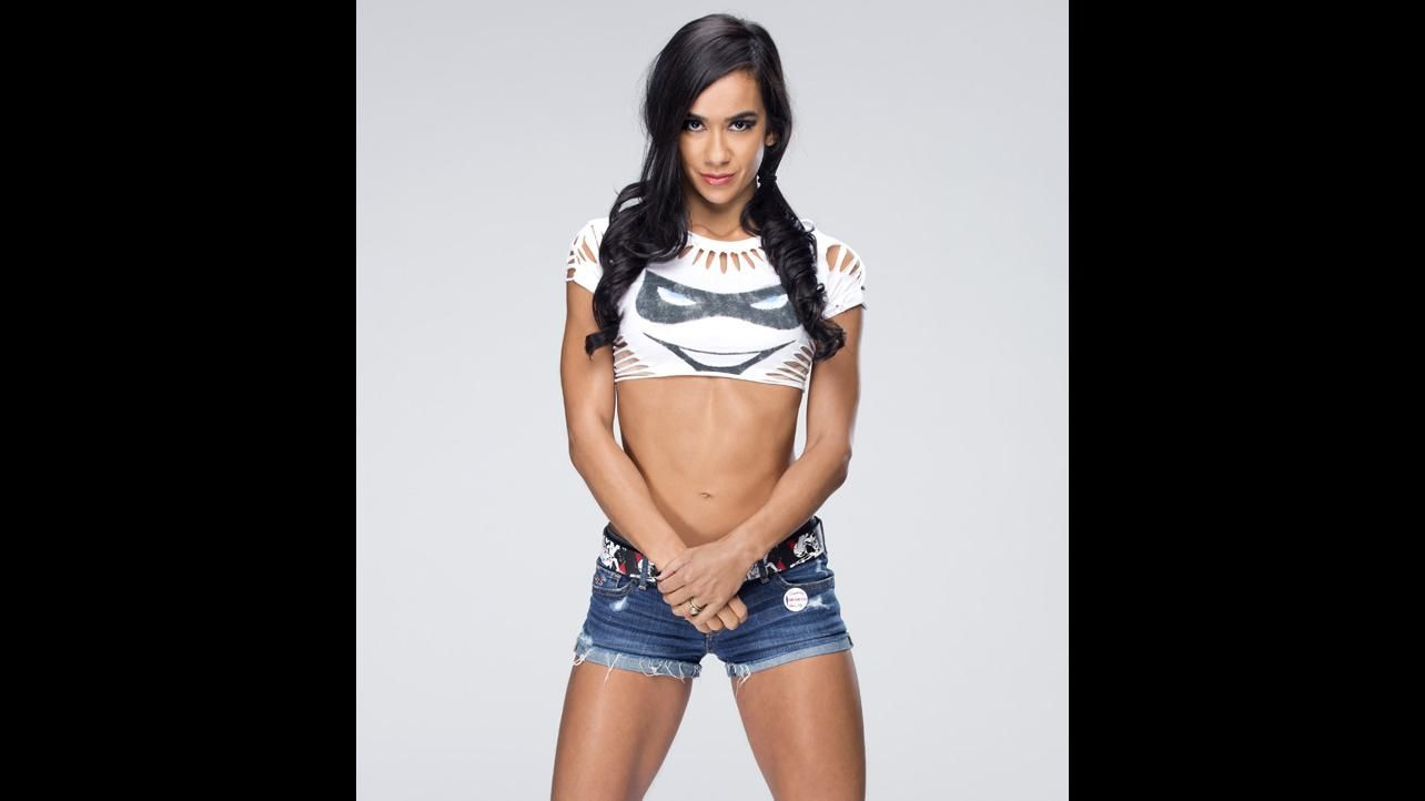 AJ Lee thigh hot