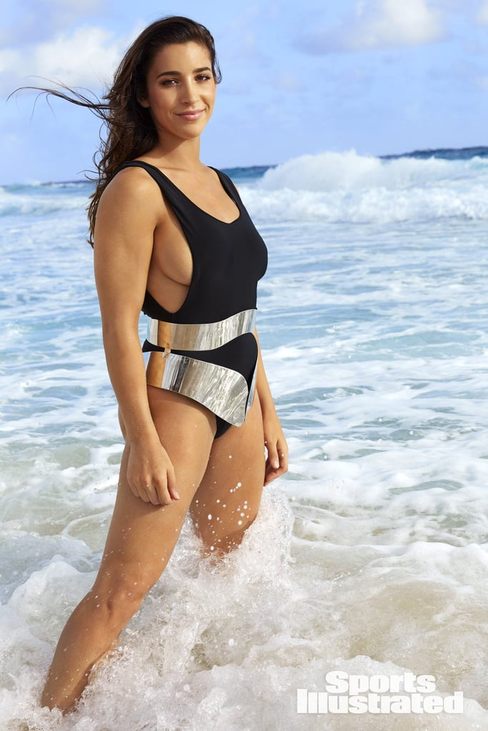 Aly Raisman sexy in beach