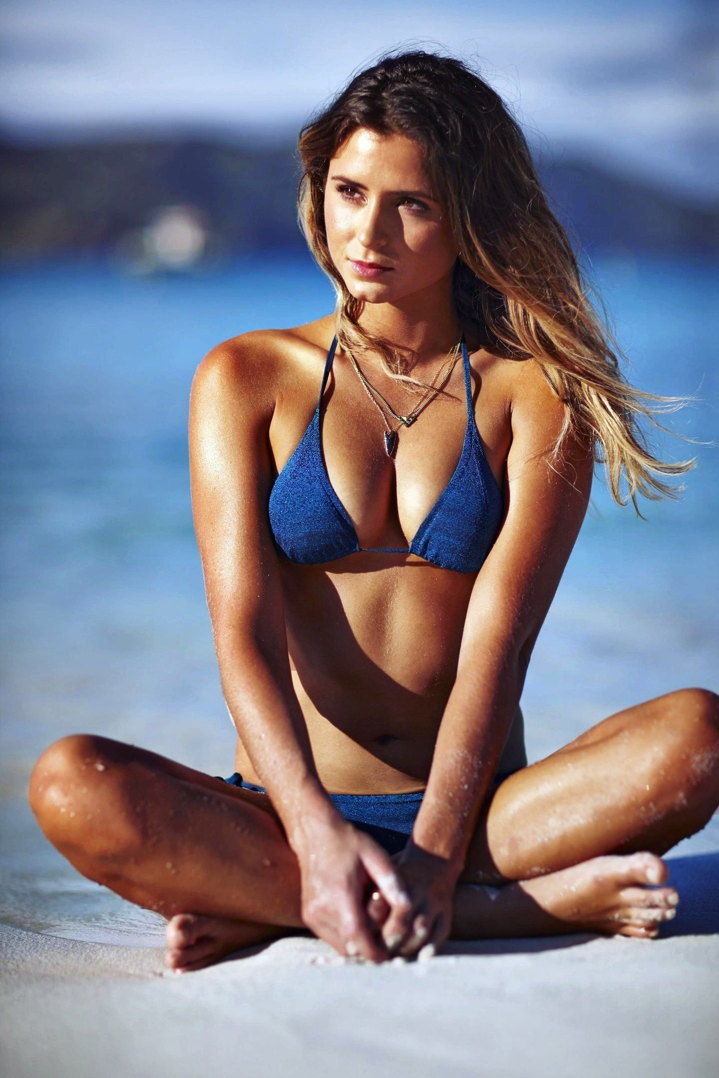 Anastasia Ashley Hot in Blue Bikini
