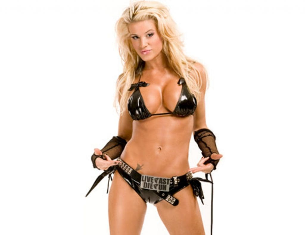 Ashley Massaro Sexy Boobs Pictures in Black Bikini Pics