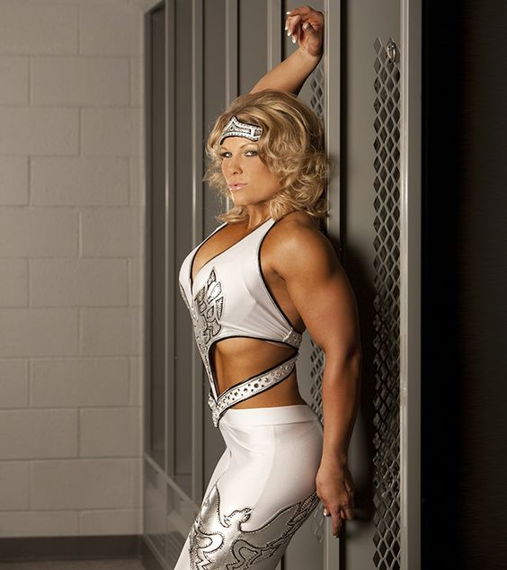 Beth Phoenix hot white drtess
