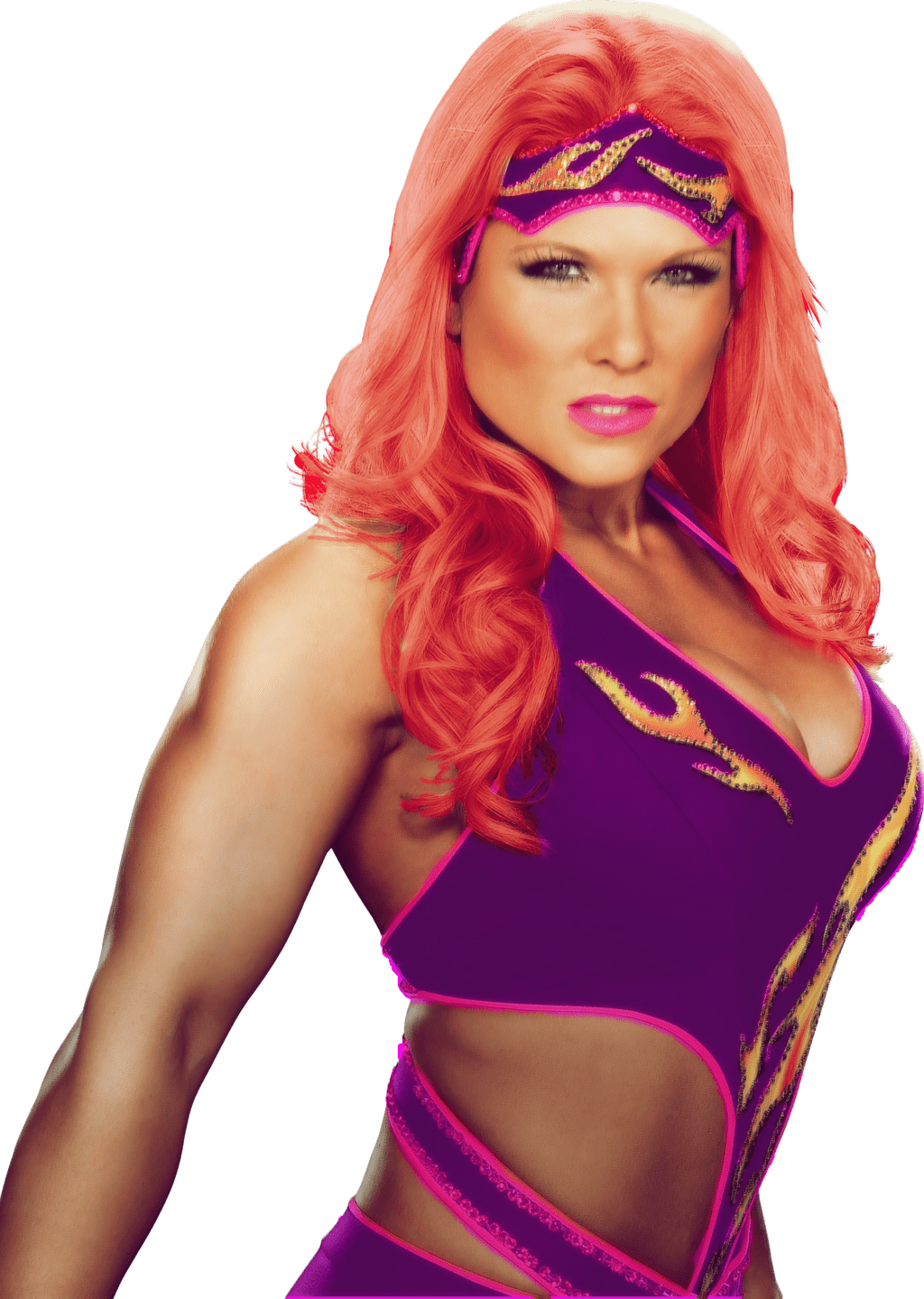 Beth Phoenix sexy purple outfit