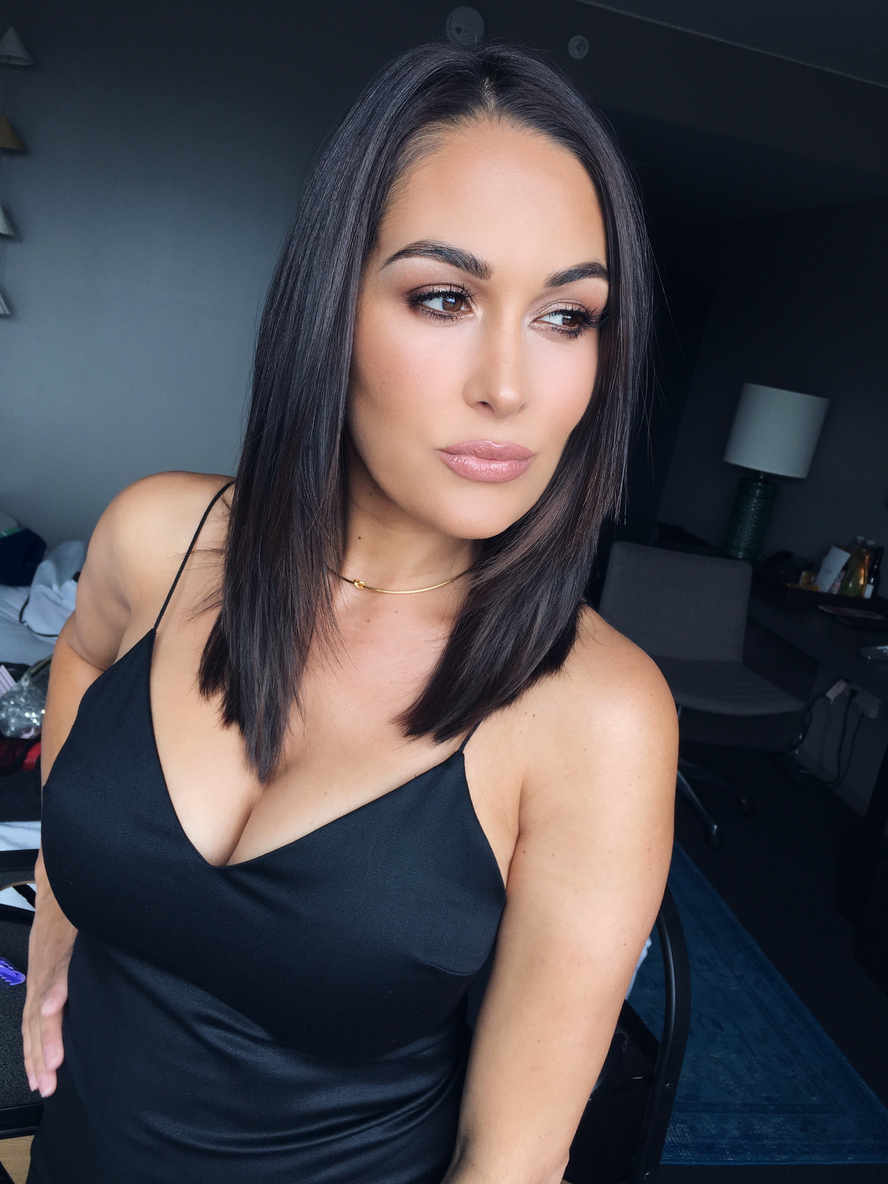 Brie Bella cleavage