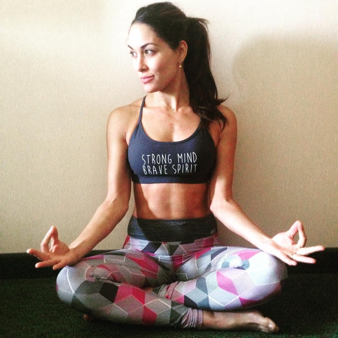 Brie Bella sexy yoga pose