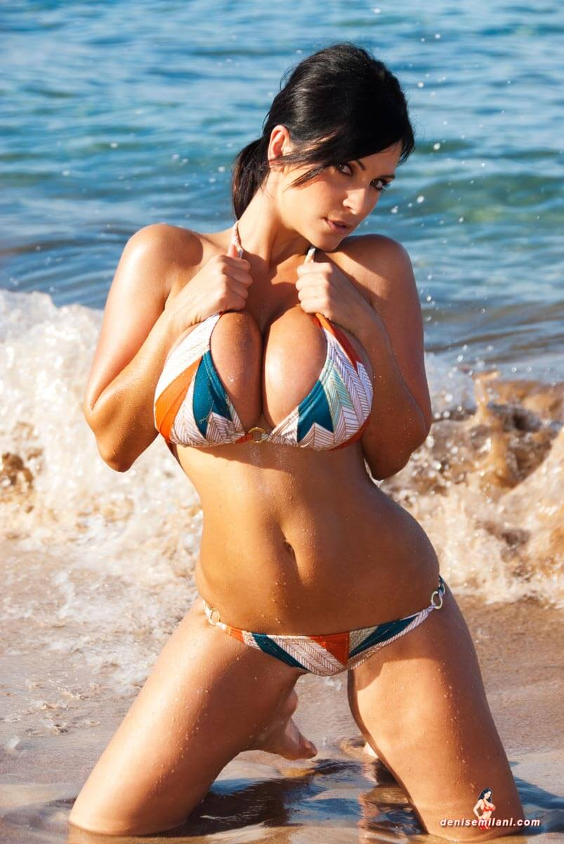Denise Milani hot busty booty