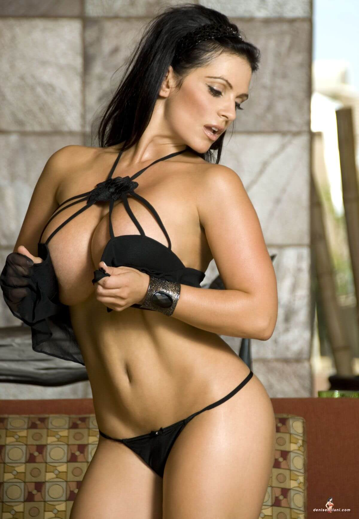 Denise Milani hot lingerie picture