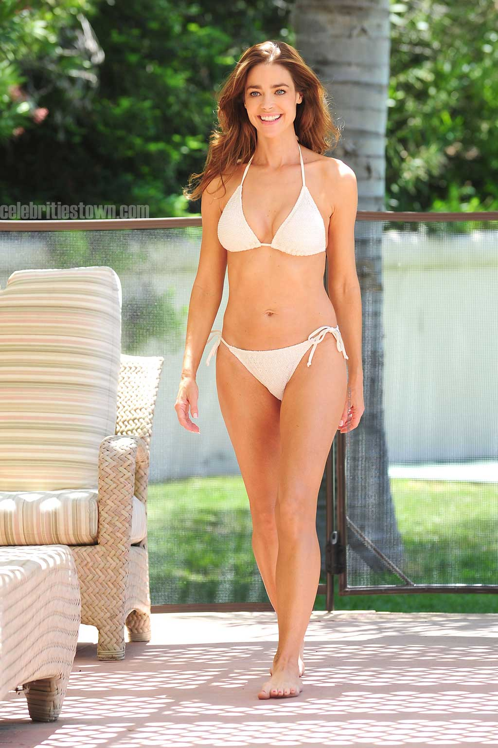 Denise Richards sexy white bikini