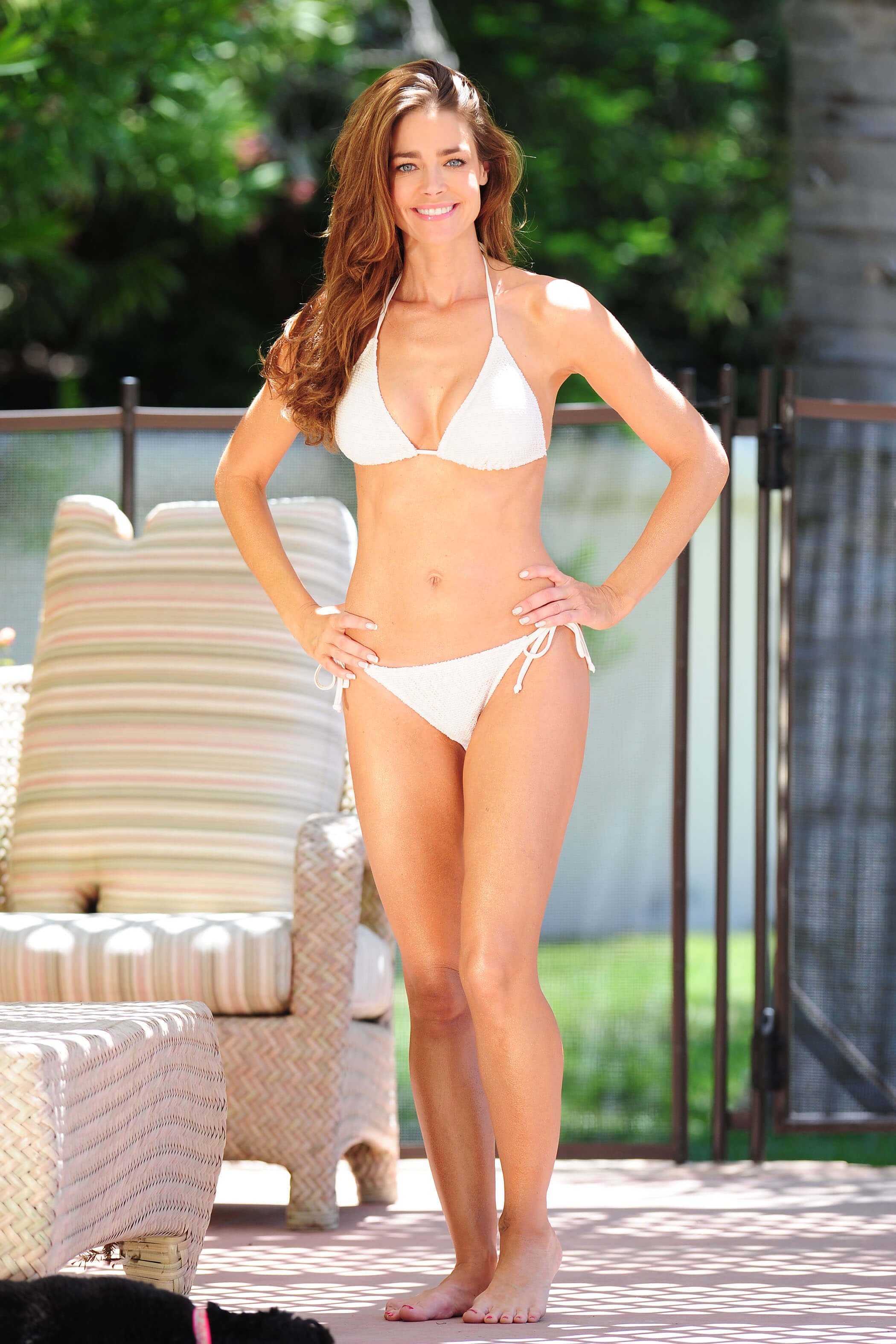 Denise Richards sexy white bikini pic