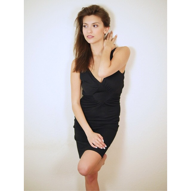 Francoise Boufhal Hot in Short Dress