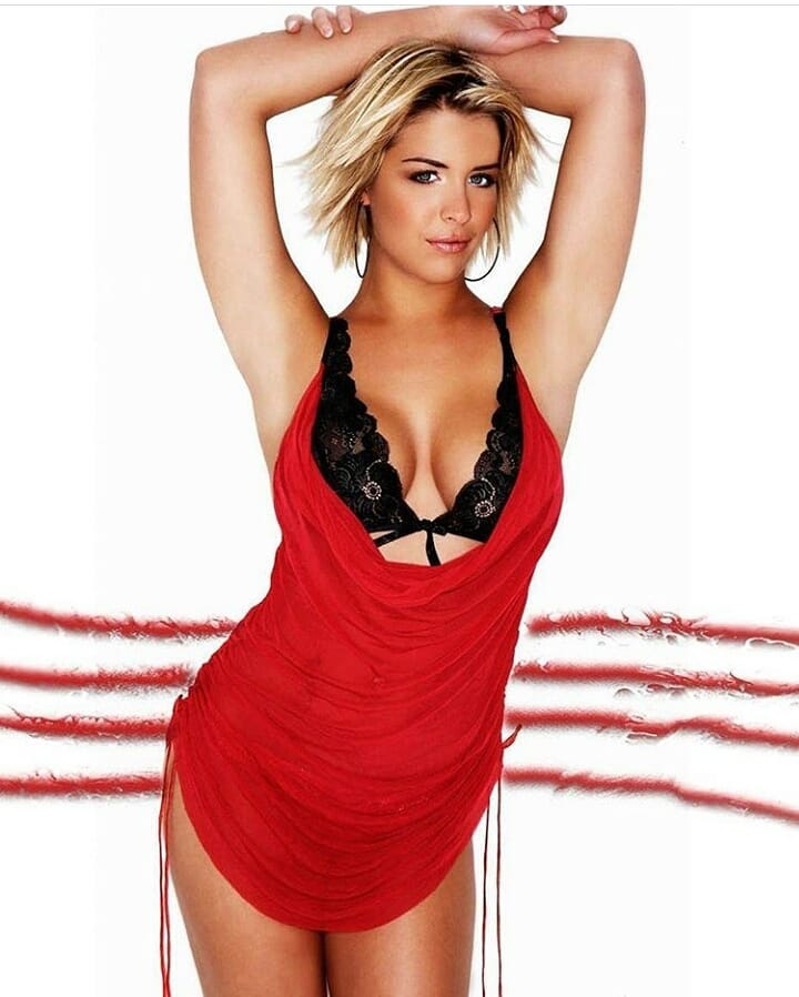 Gemma Atkinson sexy red lingerie