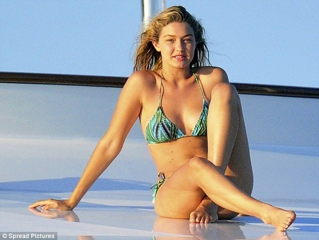 Gigi Hadid cleavages sexy pictures