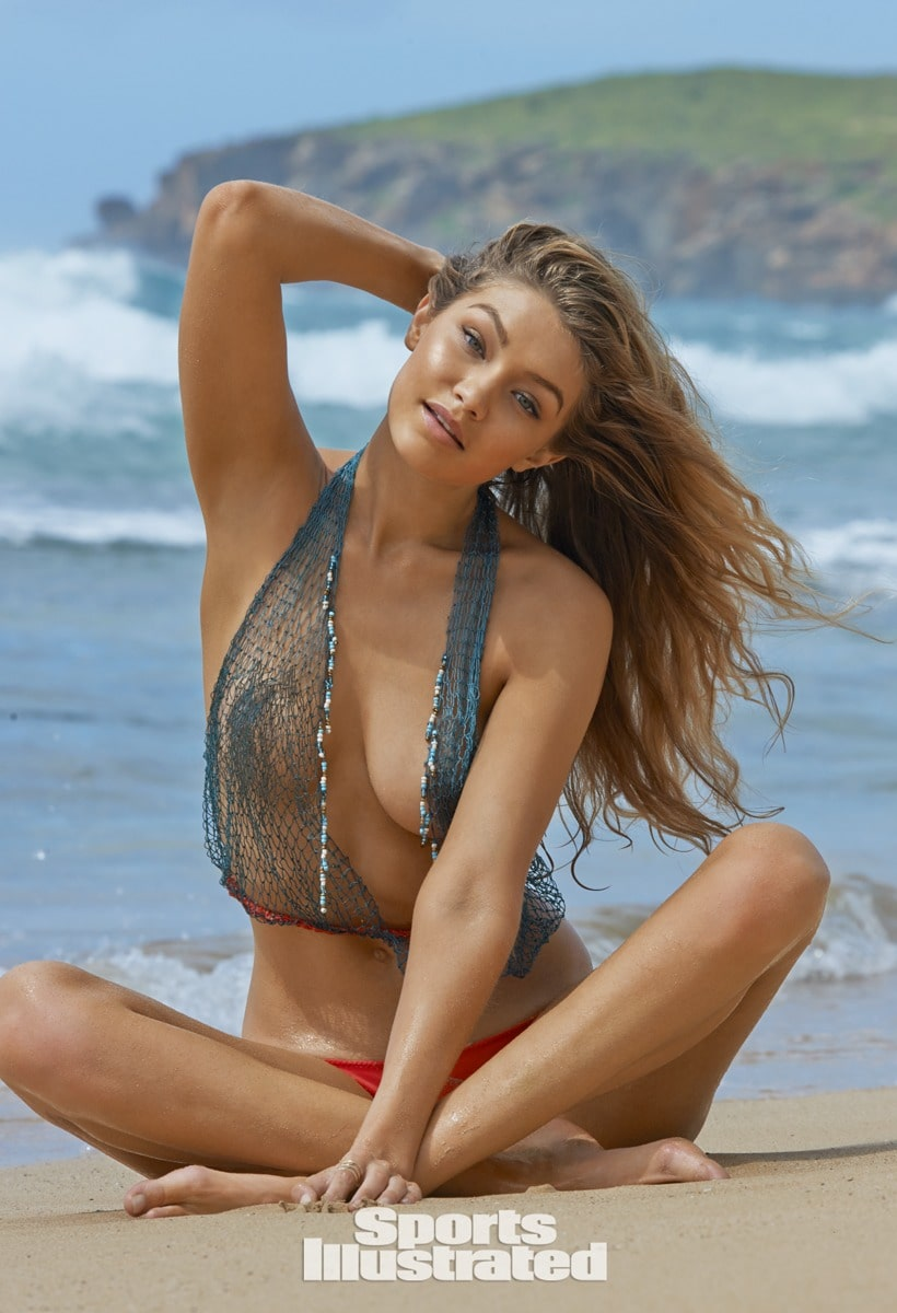 Gigi Hadid cleavages sexy