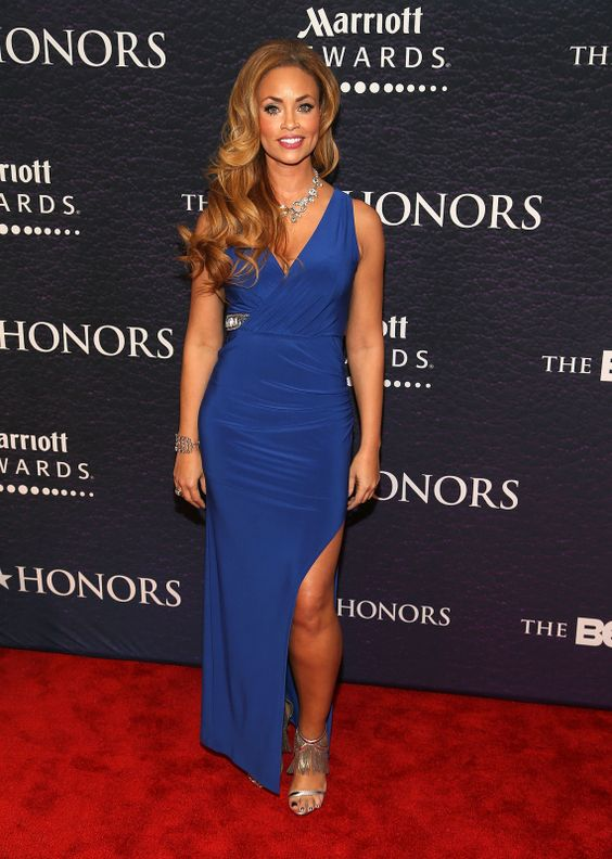 Gizelle Bryant Hot in Blue Dress