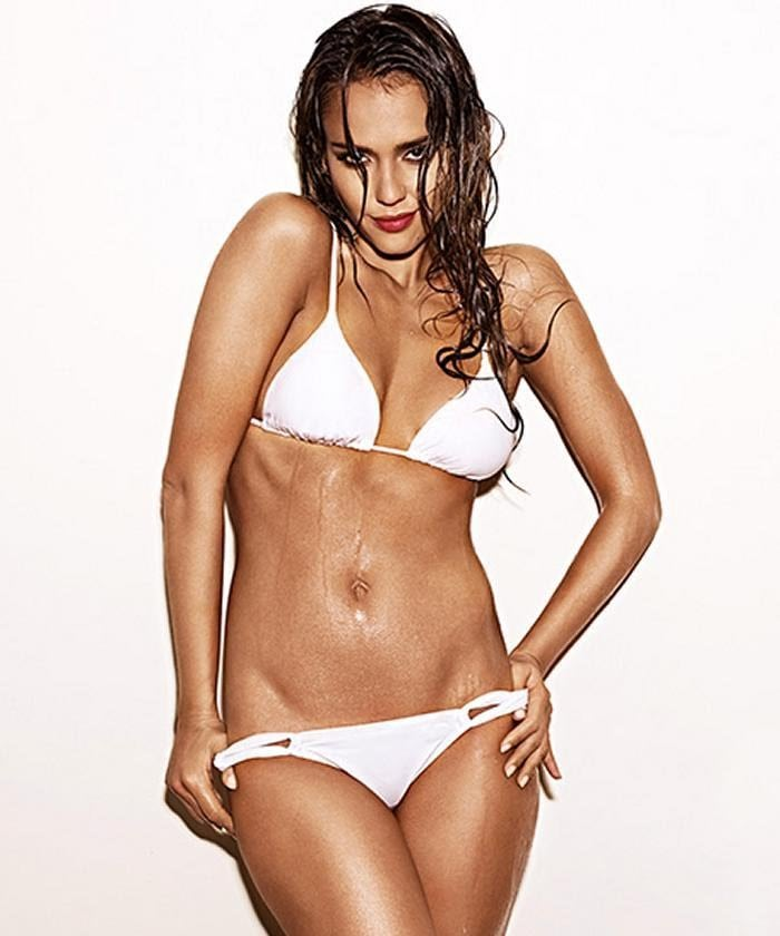 Jessica Alba Hot in White Bikini