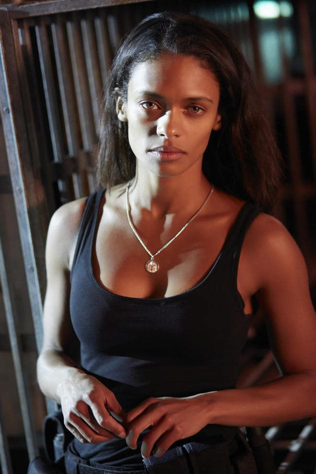 Kandyse McClure Hot in Black T-Shirt