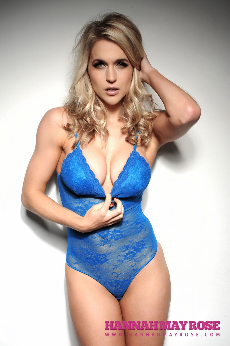 Kayleigh Pearson Hot in Blue Lingerie