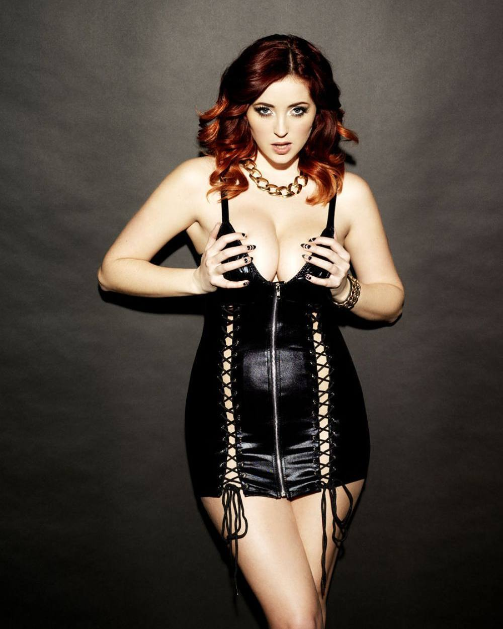 Lucy Collett Hot in Black Lingerie