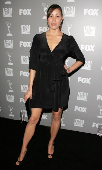 Michaela Conlin sexy black dress