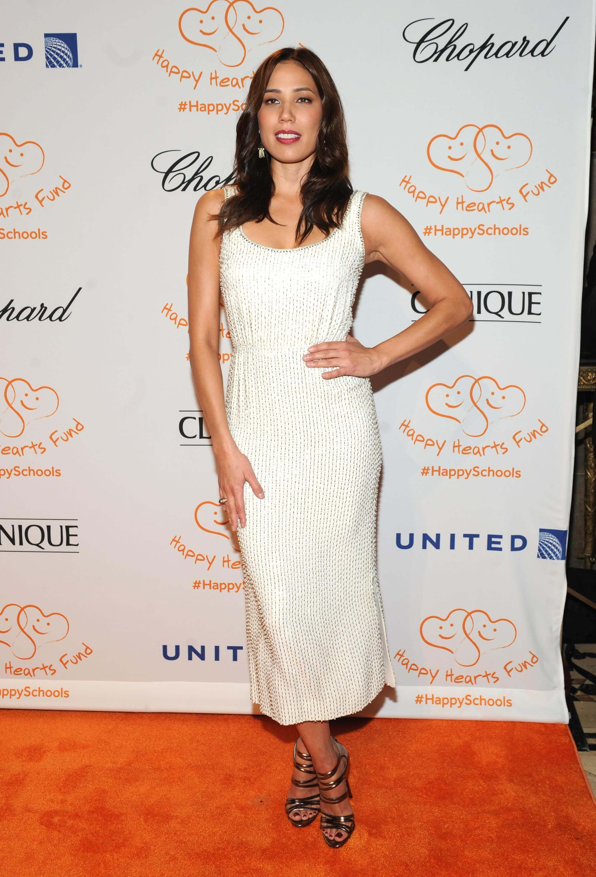 Michaela Conlin sexy white dress