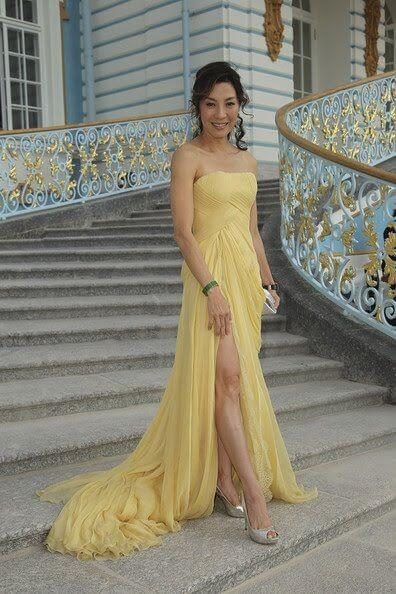 Michelle Yeoh yellow sexy