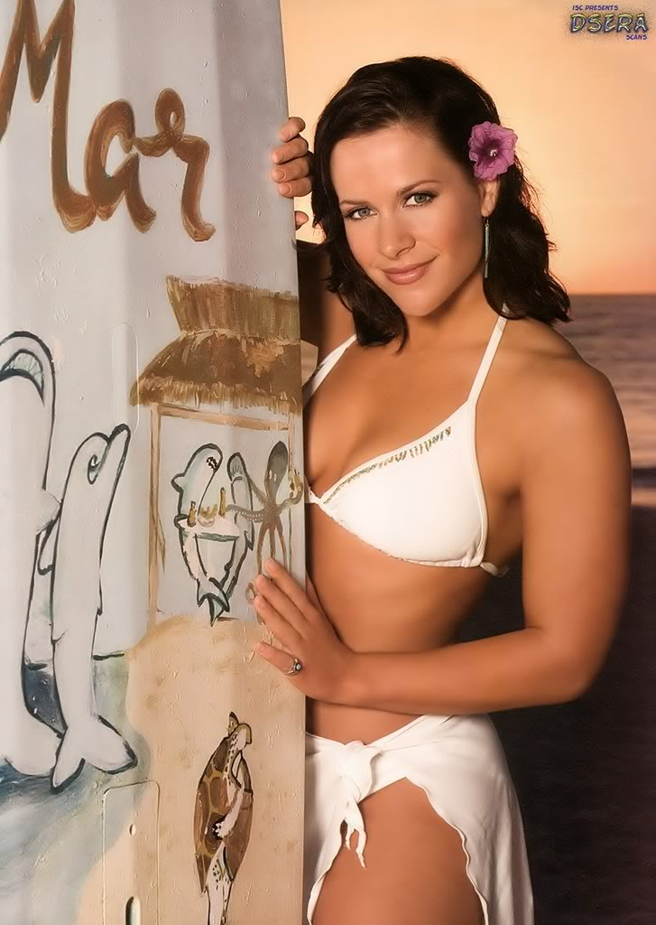 Molly Holly white bikini